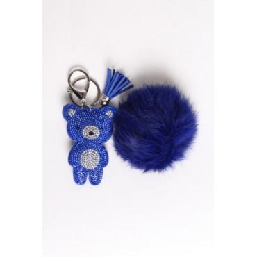 Porte clé Ours Bleu