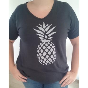 T-Shirt imprimé Ananas en Lin